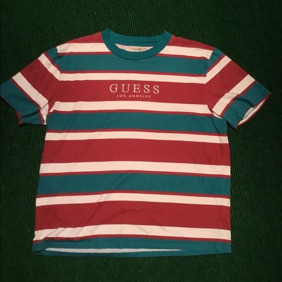 fd7649d9 Guess Shirts | Vintage Stripe T Shirt Tee Asap Rocky | Poshmark